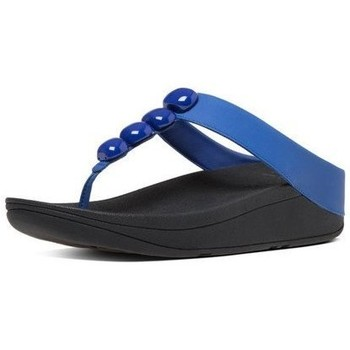 Zapatos Mujer Chanclas FitFlop ROLA TM - ROYAL BLUE LEATHER ROYAL BLUE LEATHER