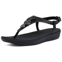 Zapatos Mujer Chanclas FitFlop LAINEY CIRCLE TOE THONGS - BLACK BLACK