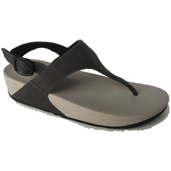 Zapatos Mujer Chanclas FitFlop SKINNY TM TOE POST SANDAL CANVAS - BLACK BLACK