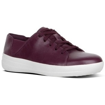 Zapatos Mujer Zapatillas bajas FitFlop F-SPORTY TM LACE UP SNEAKER LEATHER - DEEP PLUM DEEP PLUM