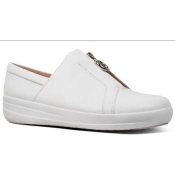 Zapatos Mujer Zapatillas bajas FitFlop NEW ZIP SNEAKER LEATHER - URBAN WHITE URBAN WHITE