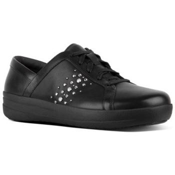 Zapatos Mujer Zapatillas bajas FitFlop F-SPORTY II PEARL STUD - BLACK BLACK