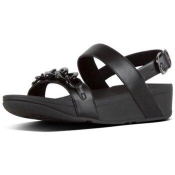 Zapatos Mujer Sandalias FitFlop LOTTIE TORTOISESHELL BACK-STRAP - BLACK BLACK