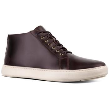 Zapatos Mujer Botas de caña baja FitFlop ANDOR SMOOTH LEATHER - DARK OXBLOOD DARK OXBLOOD