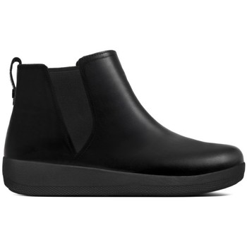 Zapatos Mujer Botas de caña baja FitFlop SUPERCHELSEA TM BOOT- Black Leather BLACK