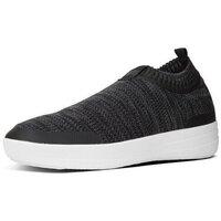 Zapatos Mujer Zapatillas altas FitFlop ÜBERKNIT TM SLIP-ON SNEAKERS - BLACK/SOFT GREY BLACK/SOFT GREY