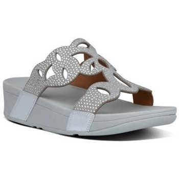 Zapatos Mujer Zuecos (Mules) FitFlop ELORA CRYSTAL SLIDES - SILVER SILVER