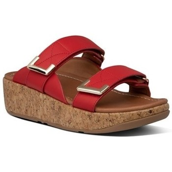 Zapatos Mujer Zuecos (Mules) FitFlop REMI ADJUSTABLE SLIDES - RED RED