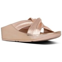 Zapatos Mujer Zuecos (Mules) FitFlop TWISS SLIDE - ROSE GOLD ROSE GOLD