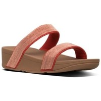 Zapatos Mujer Zuecos (Mules) FitFlop LOTTIE SHIMMERMESH SLIDE - PASSION RED es PASSION RED es