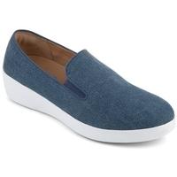 Zapatos Mujer Mocasín FitFlop SUPERSKATE TM LOAFERS SHIMMER DENIM - BLUE BLUE