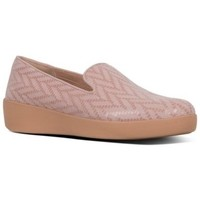 Zapatos Mujer Mocasín FitFlop AUDREY CHEVRON-SUEDE - LOAFERS - OYSTER PINK LOAFERS - OYSTER PINK