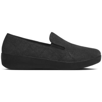 Zapatos Mujer Mocasín FitFlop SUPERSKATE TM- BLACK SNAKE EMBOSSED BLACK
