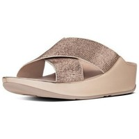 Zapatos Mujer Zuecos (Mules) FitFlop CRYSTALL TM SLIDE - Rose Gold Crystal Rose Gold Crystal