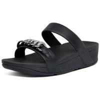 Zapatos Mujer Zuecos (Mules) FitFlop LOTTIE CHAIN SLIDES - ALL BLACK ALL BLACK