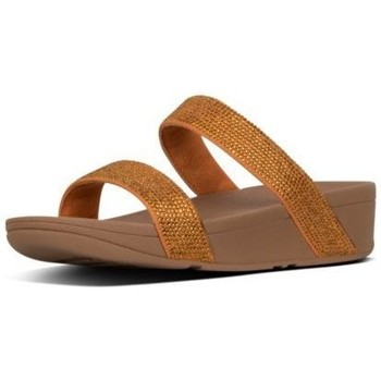 Zapatos Mujer Zuecos (Mules) FitFlop LOTTIE SHIMMERCRYSTAL SLIDE - AMBER ASH AMBER ASH