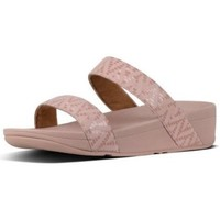 Zapatos Mujer Zuecos (Mules) FitFlop LOTTIE CHEVRON-SUEDE SLIDE - OYSTER PINK OYSTER PINK