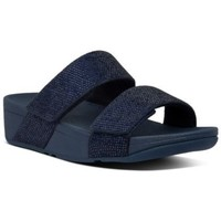 Zapatos Mujer Zuecos (Mules) FitFlop MINA CRYSTAL SLIDES - MIDNIGHT NAVY MIDNIGHT NAVY