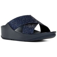 Zapatos Mujer Zuecos (Mules) FitFlop CRYSTALL TM SLIDE - SUPERNAVY CRYSTAL SUPERNAVY CRYSTAL