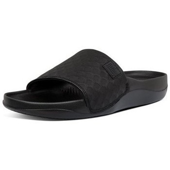 Zapatos Mujer Chanclas FitFlop BEACH POOL SLIDES - ALL BLACK ALL BLACK