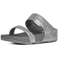 Zapatos Mujer Zuecos (Mules) FitFlop LULU TM SUPERGLITZ SLIDE - SILVER SILVER