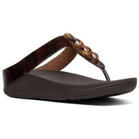 Zapatos Mujer Sandalias FitFlop FINO TORTOISESHELL - CHOCOLATE BROWN TURTLE CHOCOLATE BROWN TURTLE