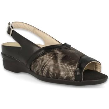 Zapatos Mujer Sandalias Dtorres S  PIES ANCHOS LUGANO NEGRO_01