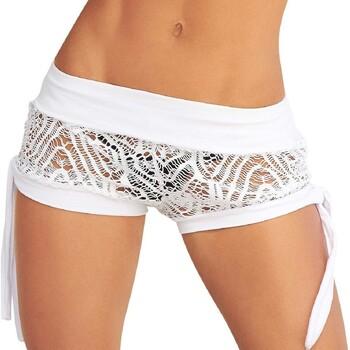 textil Mujer Shorts / Bermudas Mapalé 7713 BLANC Blanco