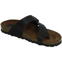Zapatos Mujer Zuecos (Mules) Interbios Chancla esclava bios MOKA