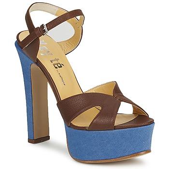 Zapatos Mujer Sandalias Keyté CUBA-LUX-MARRONE-FLY-9 Marrón