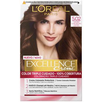 Belleza Mujer Coloración L'oréal Excellence Creme Tinte 5.02-castaño Claro Helado 1 u