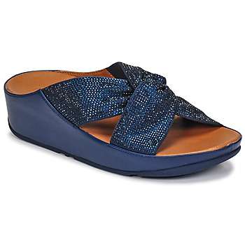 Zapatos Mujer Sandalias FitFlop TWISS CRYSTAL SLIDE Azul