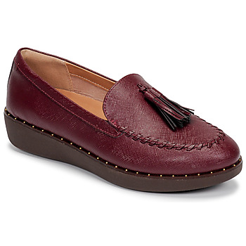 Zapatos Mujer Mocasín FitFlop PETRINA PATENT LOAFERS Rojo