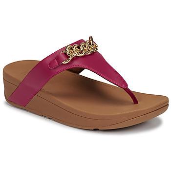 Zapatos Mujer Sandalias FitFlop LOTTIE CHAIN TOE-THONGS Fucsia