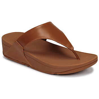 Zapatos Mujer Sandalias FitFlop LULU LEATHER TOEPOST Caramelo