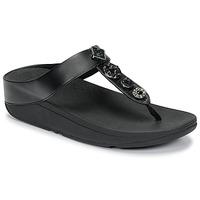 Zapatos Mujer Chanclas FitFlop FINO CIRCLE TOE-THONGS Negro