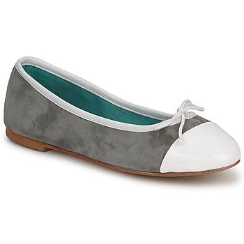 Zapatos Mujer Bailarinas-manoletinas Les Lolitas FELL BLANCO-GRIS