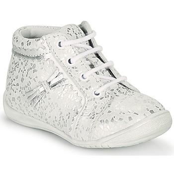 Zapatos Niña Zapatillas altas GBB ACINTA Blanco / Plata