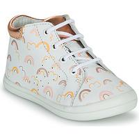 Zapatos Niña Zapatillas altas GBB NAHIA Blanco / Rosa