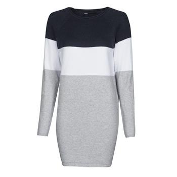 textil Mujer Vestidos cortos Only ONLLILLO Marino / Blanco / Gris