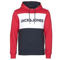 textil Hombre Sudaderas Jack & Jones JJELOGO BLOCKING Rojo
