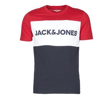 textil Hombre Camisetas manga corta Jack & Jones JJELOGO BLOCKING Rojo