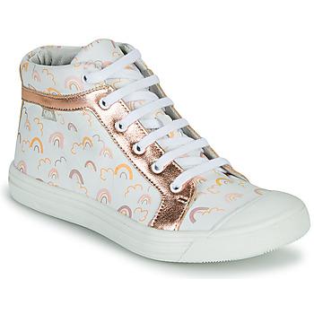 Zapatos Niña Zapatillas altas GBB LEOZIA Blanco / Rosa