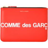 Bolsos Mujer Cartera Comme Des Garcons Cartera clutch  Huge Logo de piel Rojo