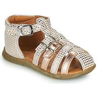 Zapatos Niña Sandalias GBB PERLE Blanco / Rosa