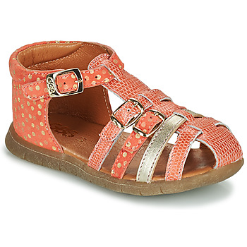 Zapatos Niña Sandalias GBB PERLE Coral / Oro