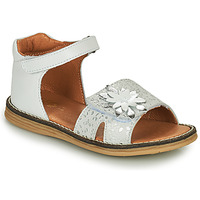 Zapatos Niña Sandalias GBB SATIA Blanco / Plata