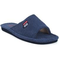 Zapatos Hombre Pantuflas Berevere Ir por casa caballero  v 0102 azul Azul