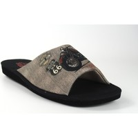 Zapatos Hombre Pantuflas Berevere Ir por casa caballero  v 0103 negro Negro