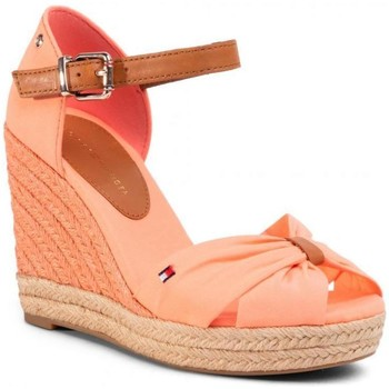 Zapatos Mujer Alpargatas Tommy Hilfiger Basic Open Toe High Wedge Sand Pink